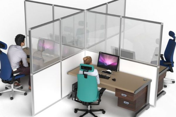 Acrylic desk screen wall separators_Personal Protective Equipment (PPE)